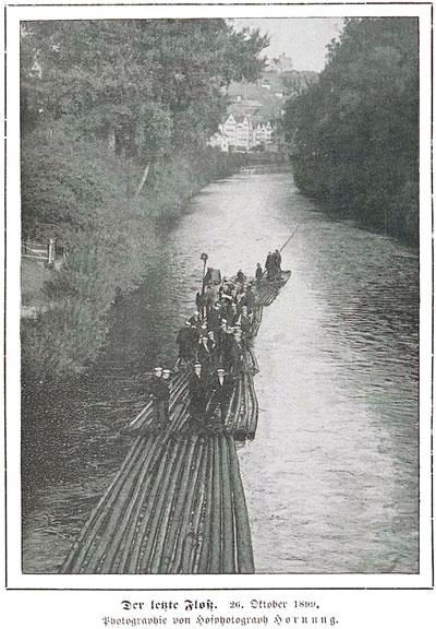 Flößerei vor 1900